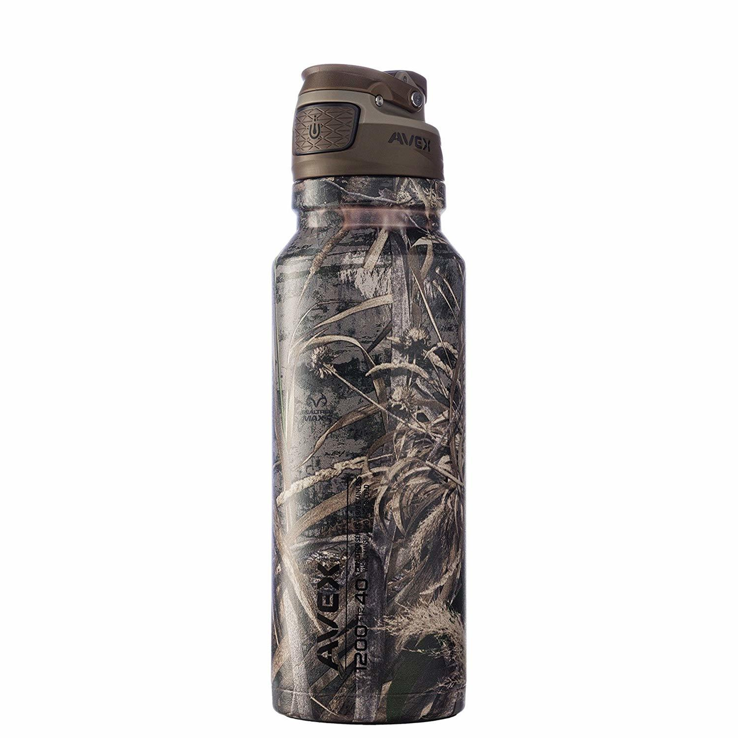 AVEX FreeFlow AUTOSEAL Stainless Steel Water Bottle
