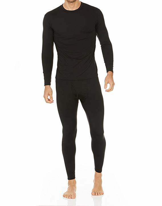 Thermajohn Men's Ultra Soft Thermal Underwear Long Johns Set with Fleece Lined