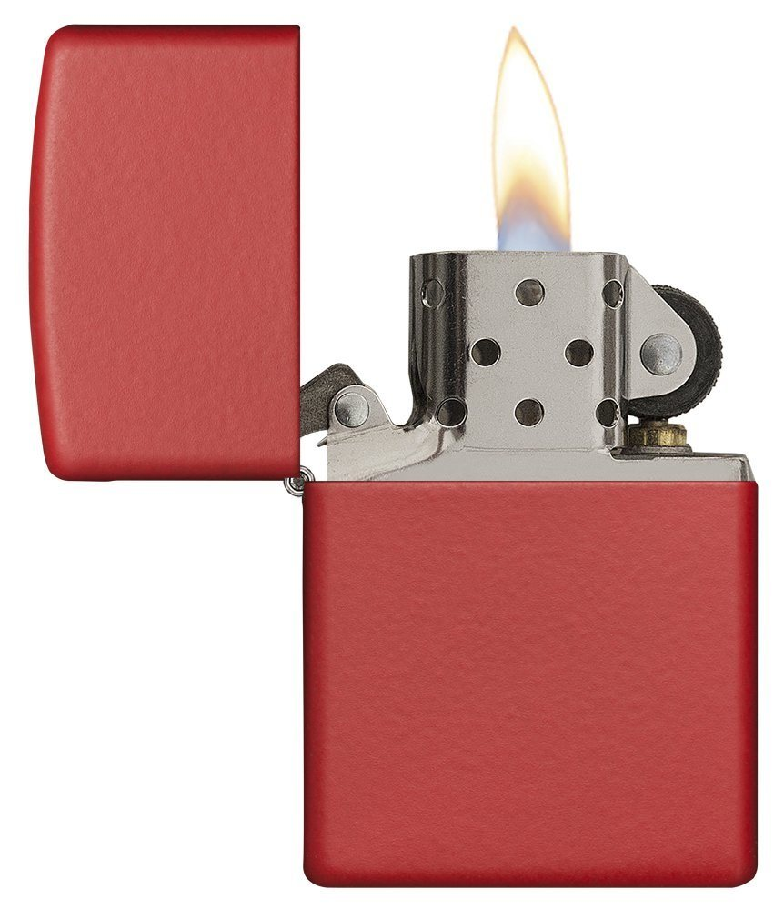 Zippo Matte Pocket Lighters red